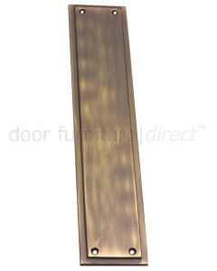 Antique Brass Tudor Finger Plate 299x60mm