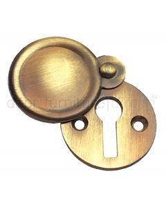 Antique Brass Covered Escutcheon 32mm