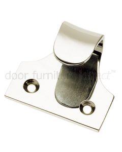 Polished Nickel Curled Sash Lift 50x44mm