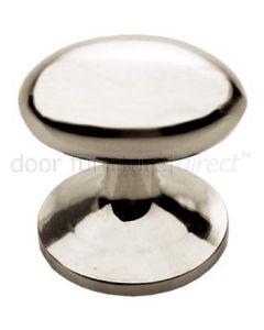 Polished Nickel Oval Cupboard Knob