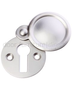 Satin Nickel Covered Escutcheon 41x32mm