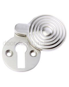 Satin Nickel Reeded Covered Escutcheon 41x32mm