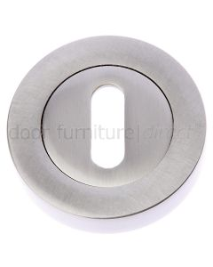 Satin Nickel Slotted Open Escutcheon 53mm