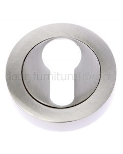 Satin Nickel Euro Profile Escutcheon 53mm
