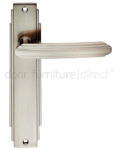 Satin Nickel Art Deco Latch Door Handles