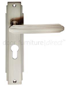 Satin Nickel Art Deco EURO PROFILE Door Handles