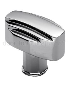 Polished Chrome Art Deco Cabinet Knob 30x20mm