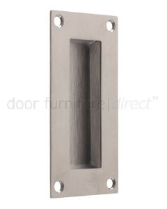 Satin Stainless Steel Rectangular Flush Pull 50x100mm