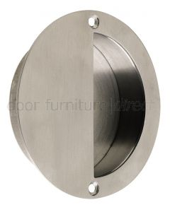 Satin Stainless Steel Circular Flush Pull 90mm