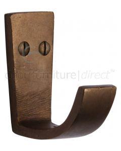Solid Bronze Rustic Single Robe Hook 61mm