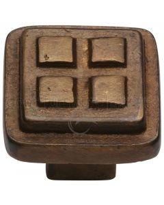 Solid Bronze Rustic Craft Cabinet Knob 32mm