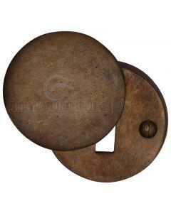 Solid Bronze Rustic Round Covered Escutcheon 45mm