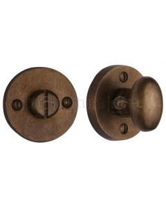 Solid Bronze Rustic Round Thumbturn and  Release 45mm
