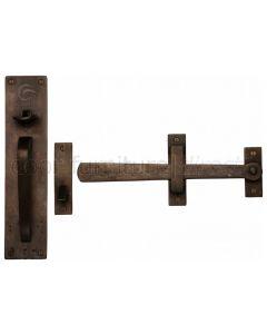 Solid Bronze Rustic Thumb Latch 218mm