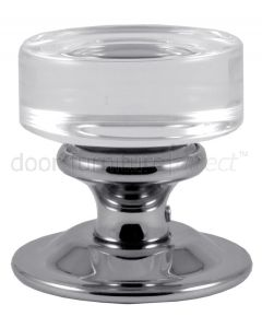Moderno Clear Glass Mortice Knobs 57mm