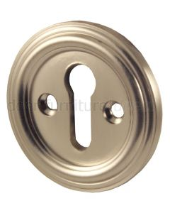 Satin Nickel Keyhole Escutcheon 42mm