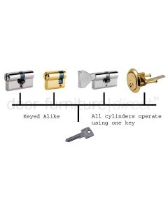 Keyed Alike Charge for Iseo Cylinders