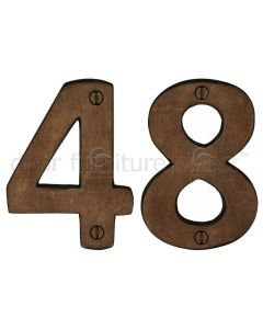Solid Bronze Rustic Door Numbers 0-9 76mm (3in)