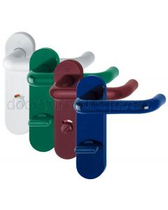 Paris Coloured Nylon Radius 78mm Centres Bathroom Door Handles