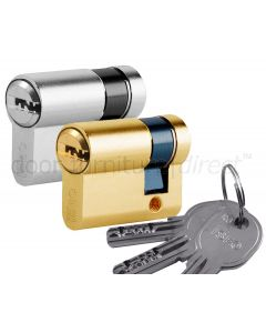 R6 6 Pin Single Key Euro Cylinder 30x10mm to 60x10mm