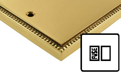 Image of Polished Brass Adam Style Electrical 13Amp Switched Spur Connection