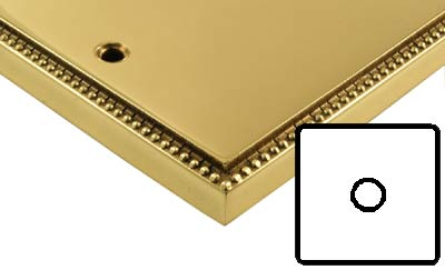 Image of Polished Brass Adam Style Electrical 1G Dimmer Switch Low Volt