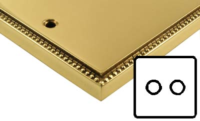 Image of Polished Brass Adam Style Electrical 2G Dimmer Switch Low Volt
