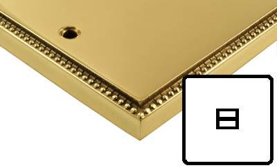 Image of Polished Brass Adam Style Electrical 1G Telephone Master Socket