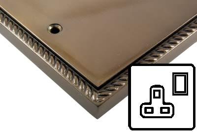 Georgian Bronze Style Electrical 13Amp Plug Socket