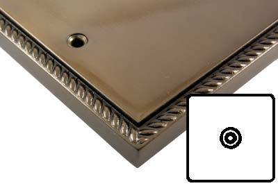 Georgian Bronze Style Electrical TV Single Isolated Coaxial Socket
