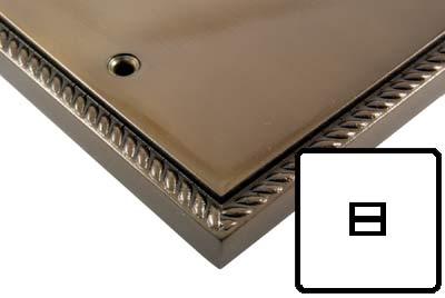 Georgian Bronze Style Electrical 1G Telephone Extension Socket