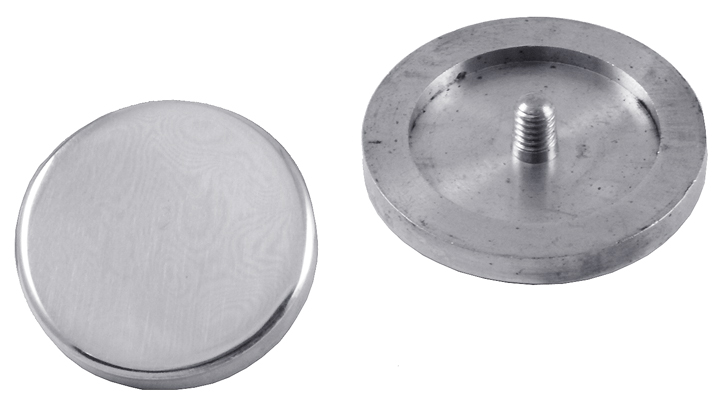 Polished Chrome Decorative Screw Coverhead Disc