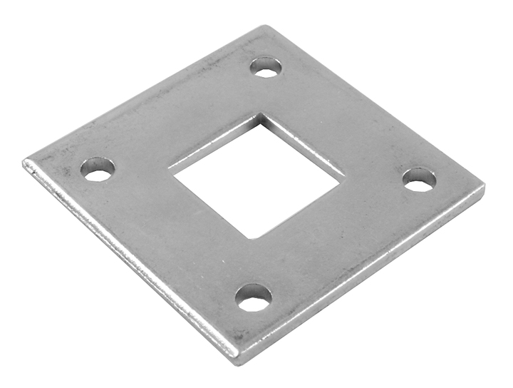 Stockists of 16mm Square Receiver Plate Zinc Plated