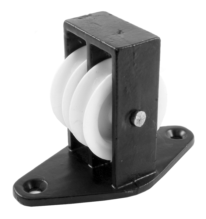 Stockists of 1.5in Twin Upright Pulley Black Japanned