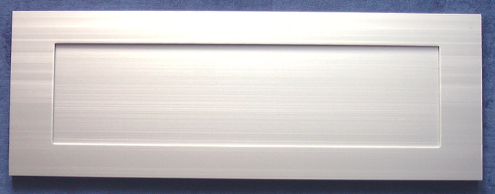 Image of Inward Opening Letter Box Satin Anodised 14x5in (355x125mm)