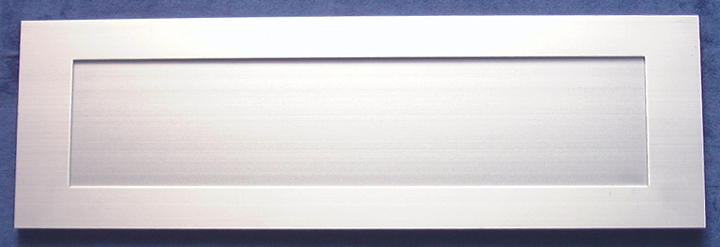 Image of Inward Opening Letter Box Satin Anodised 16x5in (406x125mm)