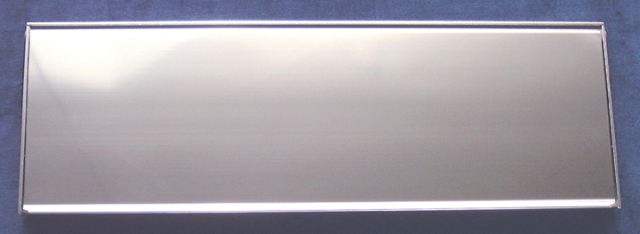 Image of Outward Opening Letter Box Polished Anodised 16x5in (406x125mm)