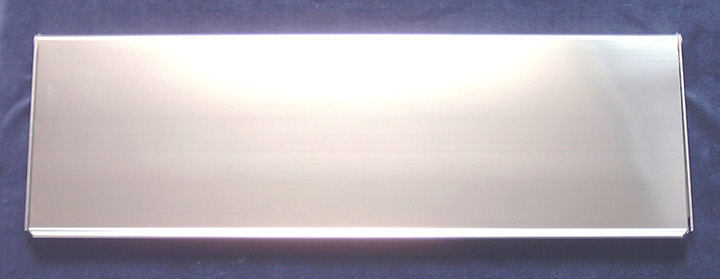 Image of Commercial Interior Door Plate Polished Anodised 16x5in (406x125mm)