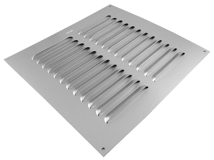 Image of Aluminium Fixed Slotted Vent 241x241mm