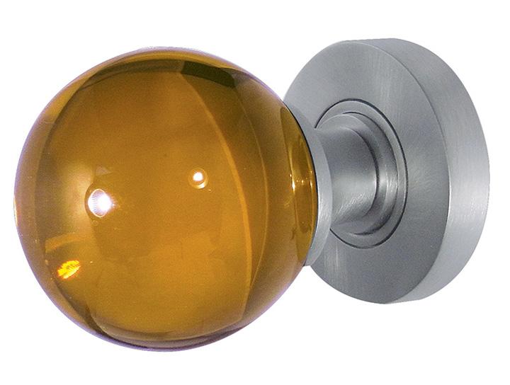 Stockists of Amber Round Glass Door Knobs 60mm