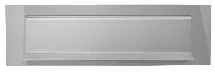 Image of Satin Anodised Letter Box 253x75mm