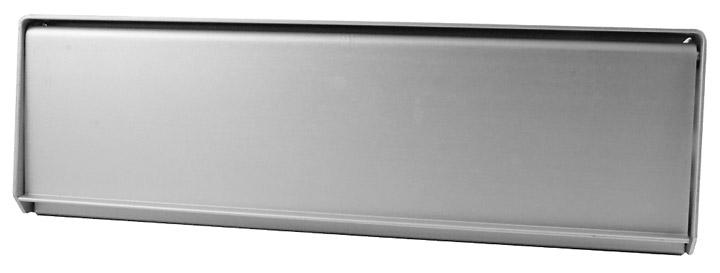 Image of Satin Anodised Screw Fix Aluminium Letter Box 252x78mm