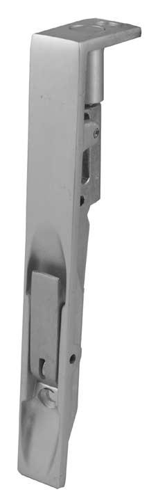 Image of 8x3/4in (200x19mm) Satin Anodised Flush Door Bolt