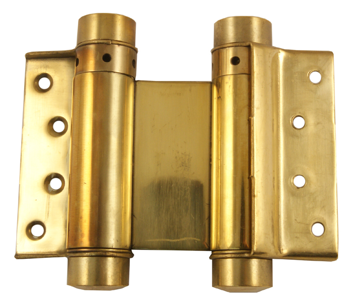 Image of 2 Way Action Spring Hinges Brass In Pairs