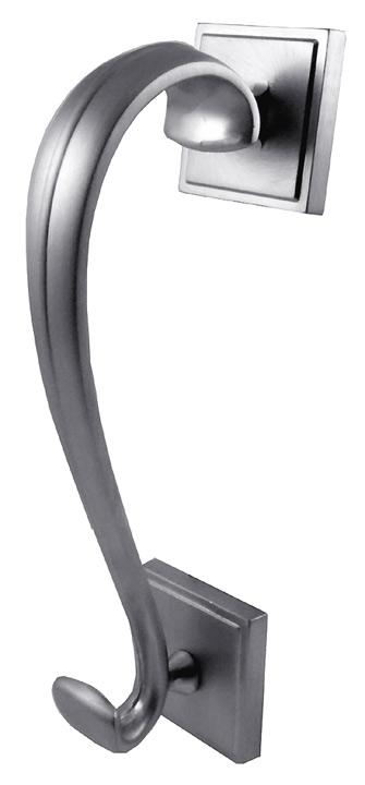 Matt Chrome Scroll 196mm Exterior Door Knocker Jedo Doorfurnituredirect Furniture Online