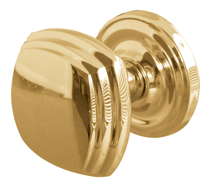 Image of Solid Brass Square Interior Door Knobs