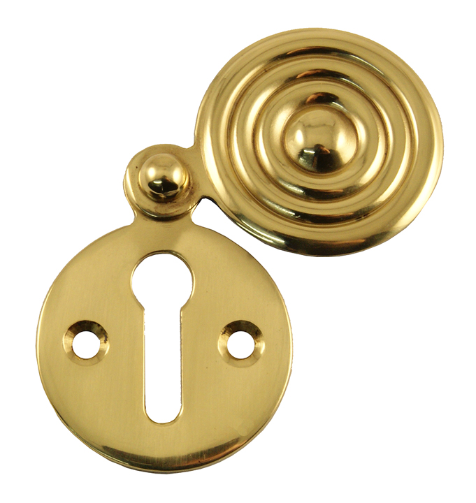 Heritage V972 Brass Reeded Covered Keyhole Cover 33mm