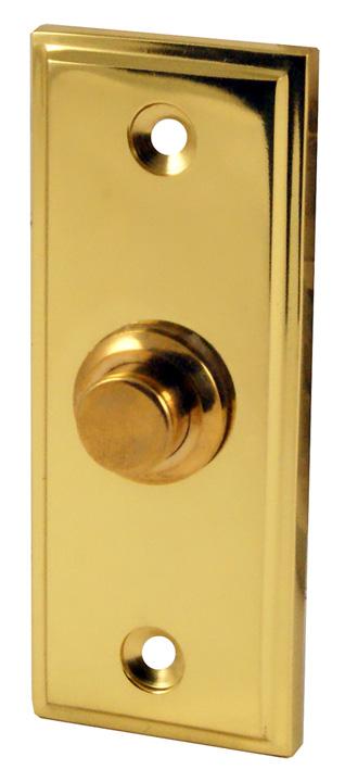 Heritage V1180 Brass Exterior Push Button Door Bell 84x33mm