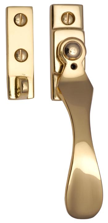 Image of Heritage V1005 Brass Locking Window Fastener Handle 128mm