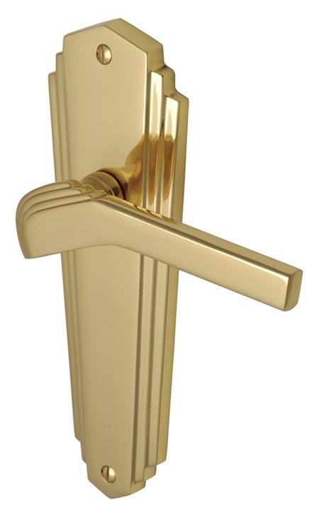 M Marcus Solid Brass Waldorf Lever Latch Door Handles